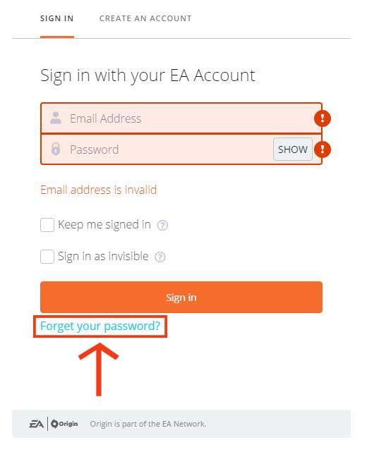 how to change ea security question if you ffoget