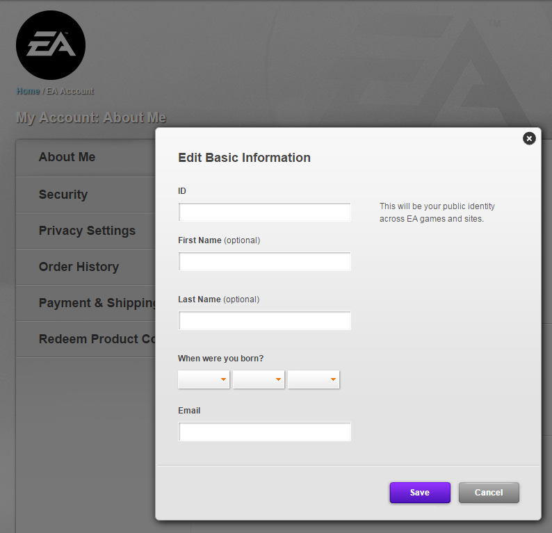 how to delete ea account on ps4