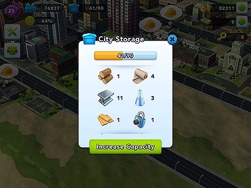 Inventory items in your City Storage