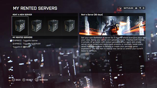 Battlefield 4 - Battlefield 4 server rental info