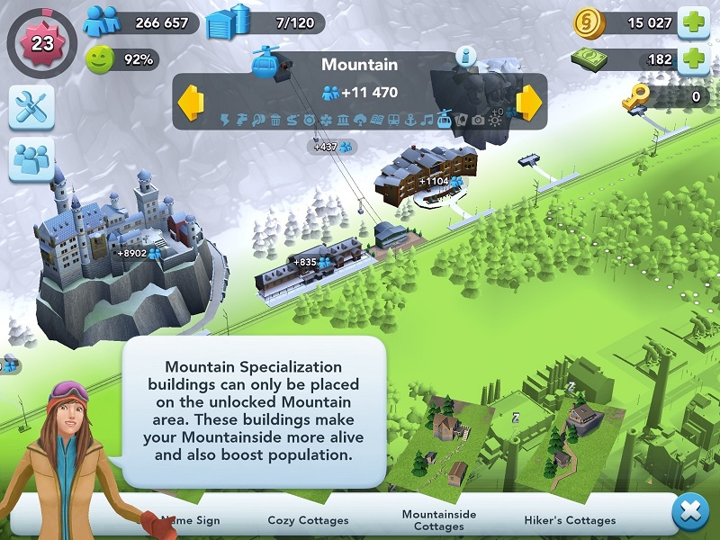 SimCity BuildIt - SimCity BuildIt railroad and Mountain Resort