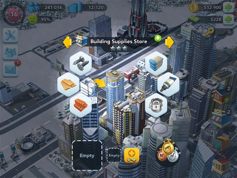SimCity BuildIt - Speed up crafting with Speed Up Tokens